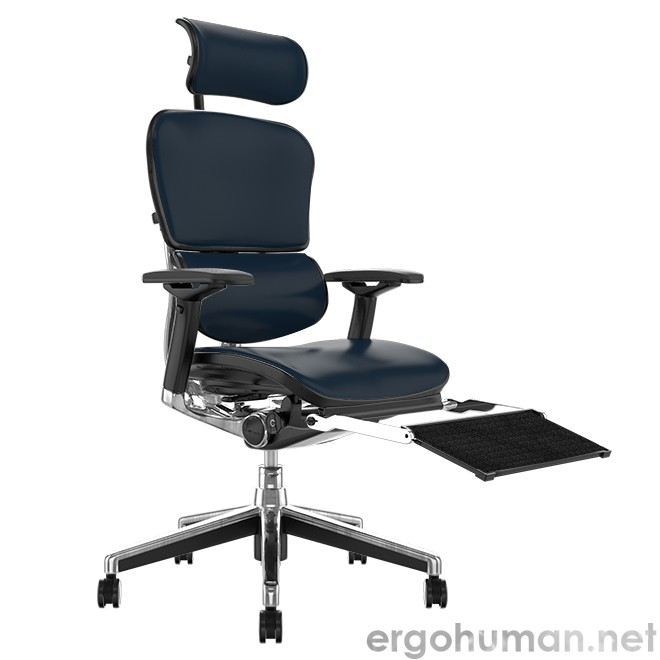 Ergohuman Leather Office Chair with Leg Rest