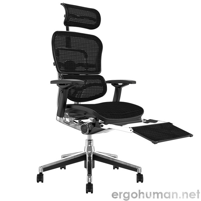 Ergohuman Mesh Office Chair with Leg Rest