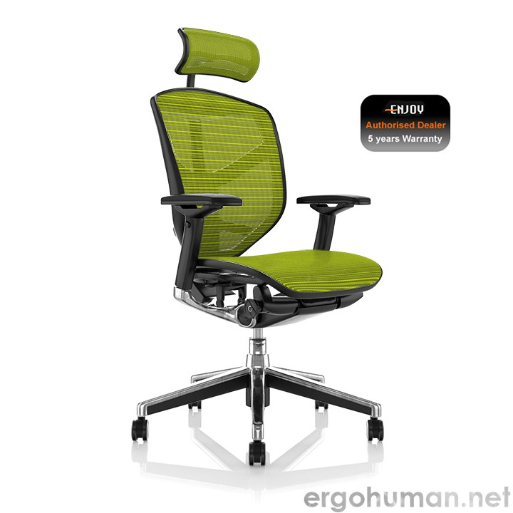 Enjoy Office Chair Green Mesh Head Rest