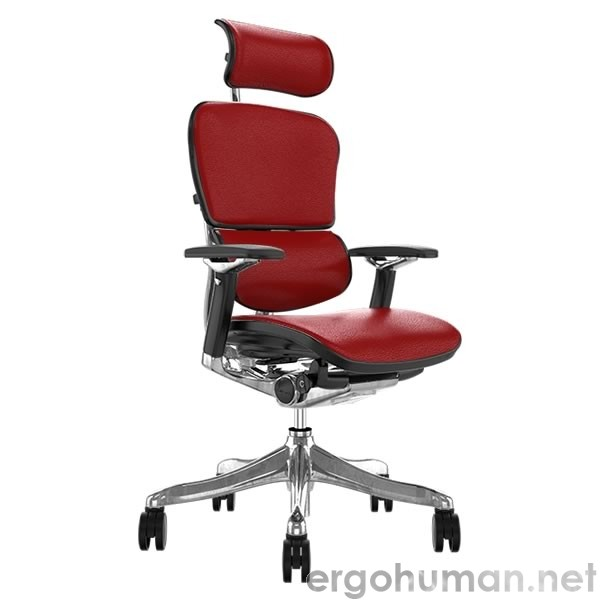 Ergohuman Plus Luxury Red Leather Office Chair